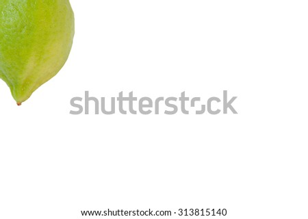 The lemon on white background. - stock photo