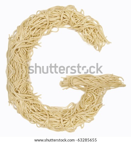 The letter G in spaghetti - stock photo