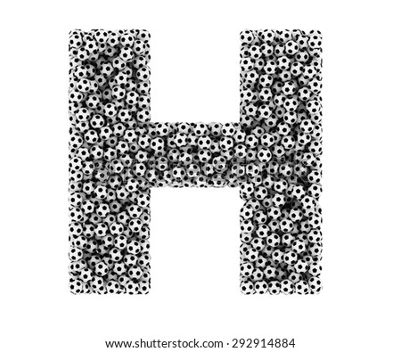 The letter H from soccer balls.