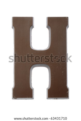 The letter H, special candy for the Sinterklaas celebration