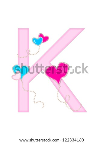 K Letter With Heart Images Heart on string Stock Photos, Heart on string Stock Photography, Heart ...