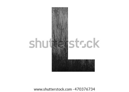 "The letter ""L"" with plantation swamp (black and white) insided"
