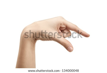 The letter Q using American Sign Language