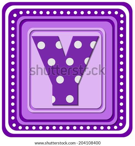 Letter y alphabet set purple square stock illustration 204108400 the letter y in the alphabet set purple square is purple and sciox Images