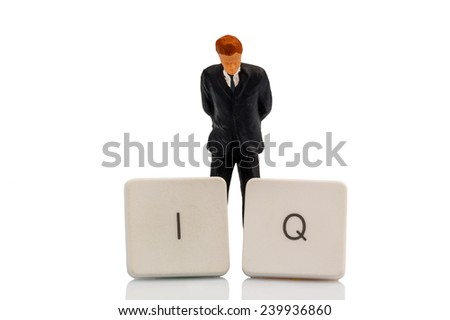 the letters iq as a symbol photo for intelligence quotient. - stock photo