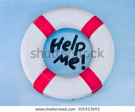 The Life buoy preserver on wall background