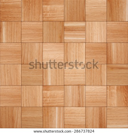 The light-brown wood texture of floor with natural patterns - stock photo