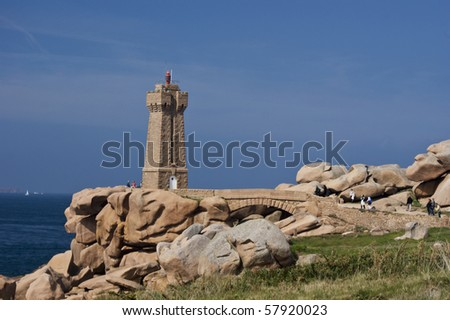 the light house at Ploumanac'h brittany france