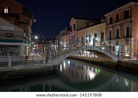 The Light of Venice. Venice Long exposure By Night.
