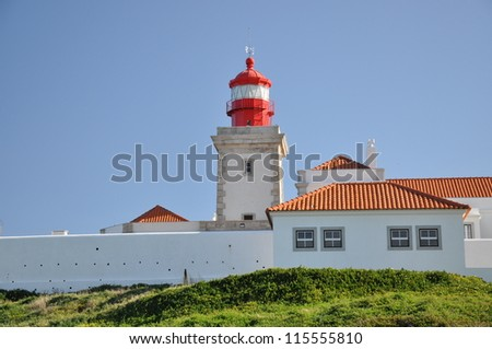 The lighthouse in cabo da roca