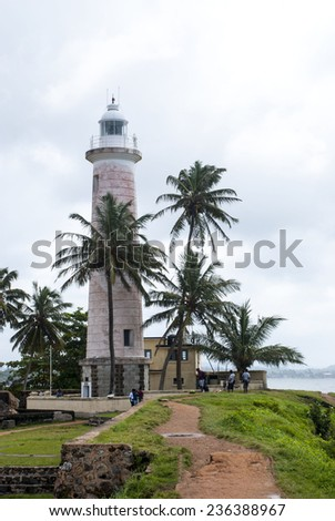 The lighthouse in the town of Gale Sri Lanka