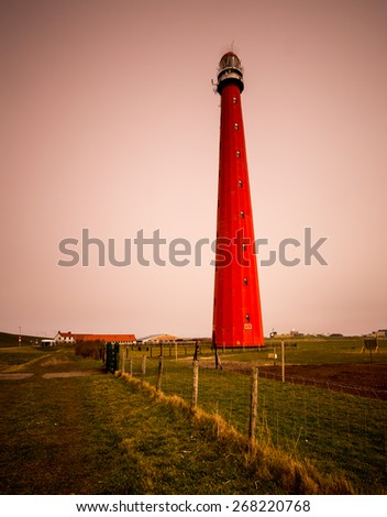The lighthouse of Den Helder (Holland) - stock photo