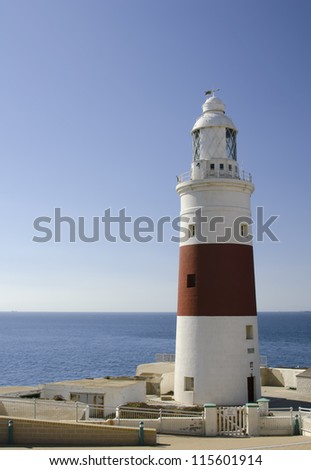 the lighthouse of gibraltar - stock photo