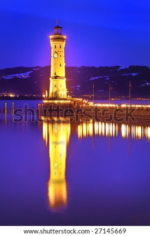 The lighthouse of Lindau, Germany - stock photo
