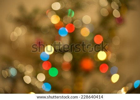 The lights on the Christmas tree  - stock photo