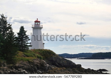 The lightstation, which is now a museum, at Greens Point, is an octagonal
