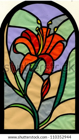 The lily - stock photo