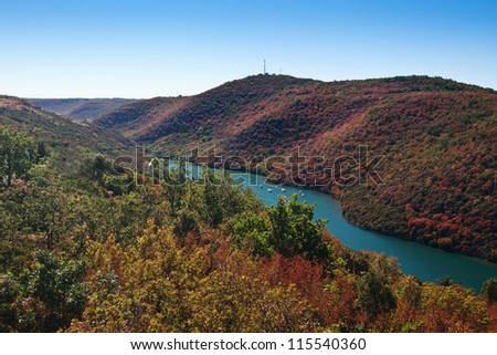 the Limski channel - Croatia (Istria) - stock photo