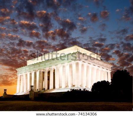 The Lincoln memorial in Washington DC USA - stock photo