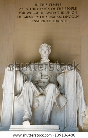 The Lincoln Memorial, Washington DC - stock photo