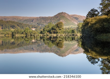 The Lion and the Lamb (Helm Crag) above Grasmere - stock photo