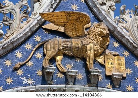 Lion St Mark Symbol Imperial Venice Stock Photo Royalty Free