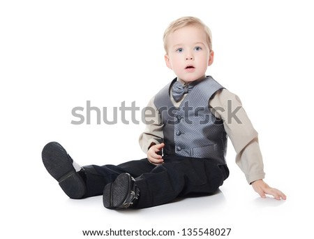 The little boy in a business suit