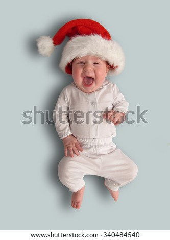 The little child - Santa Claus  - stock photo