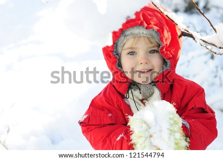 the little girl in the snow