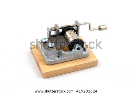 The little music box. Type mechanism. Musical instrument