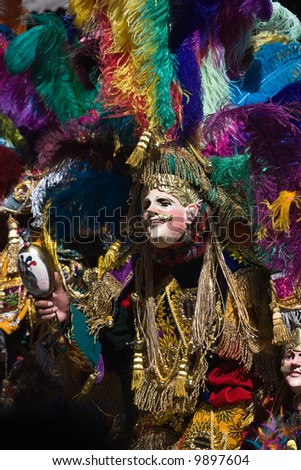 The Locals of small highland town of Chichicastenango dress up to celebrate the Festa of San Tomas - stock photo