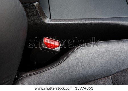 The lock for a seat belt of the modern car - stock photo