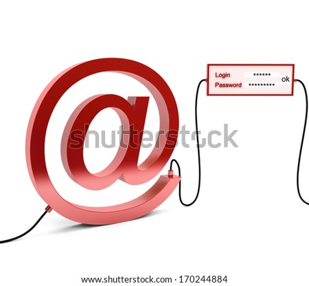 The log-in and password to access my account - stock photo