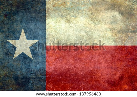 The lone star flag of the great lone star state - Texas - stock photo