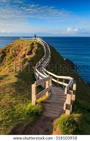 The lookout, Durness, Scotland, UK - stock photo