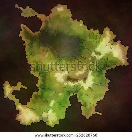 The lost island map - stock photo