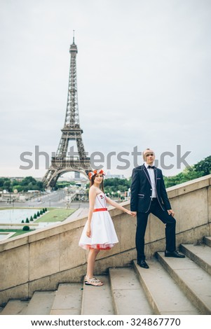 the love story of two lovers in Paris