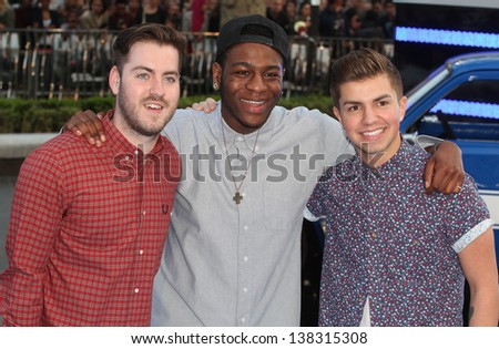 The Loveable Rogues arriving for the 'Fast And Furious 6' Premiere, at Empire Leicester Square, London. 07/05/2013