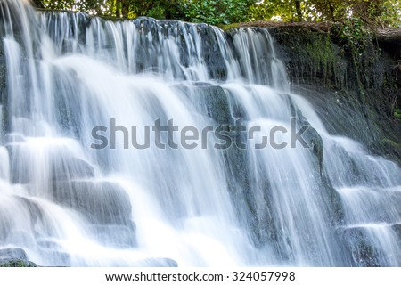 The lovely Fowley's Waterfall at Rossinver, in Lovely Leitrim, Ireland. - stock photo