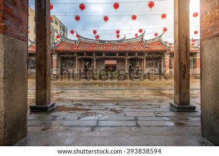 The Lukang Longshan Temple is a temple in Lukang Township, Changhua County, Taiwan - stock photo