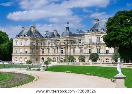 The Luxembourg Palace, Paris, France - stock photo