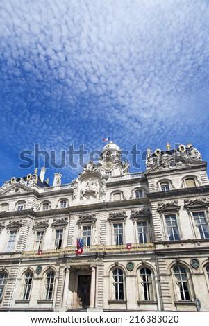 The Lyon city hall (Hotel de Ville) France - stock photo