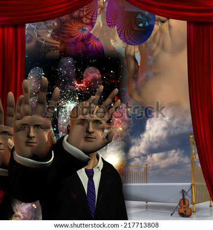 The Magician All elements are my own creation and are wholly owned by me - stock photo