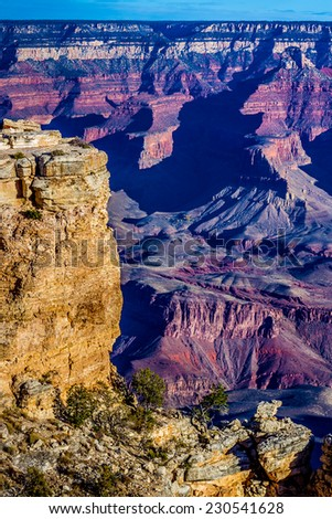 The Magnificent Grand Canyon in Arizona - stock photo