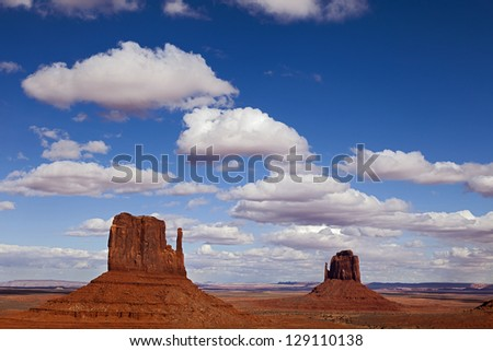The Magnificent landscape of Monument Valley, Utah, USA - stock photo