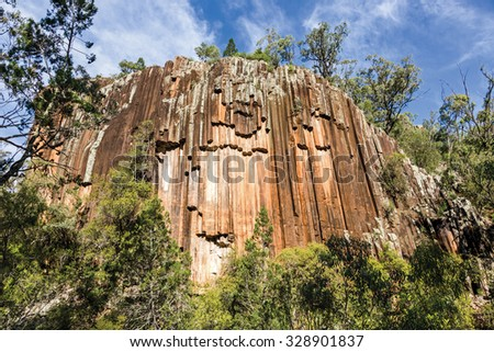 The magnificent Sawn Rocks are one of Australia best example of hexagonal crystals called organ piping