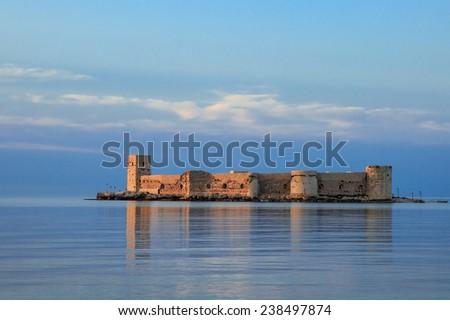 The maiden's castle (Kiz Kalesi) Mersin Turkey  - stock photo