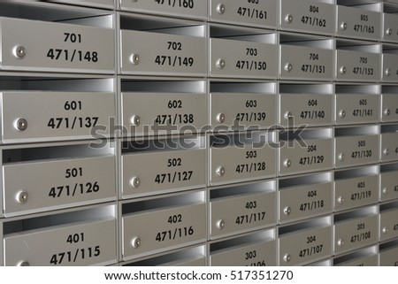 The mailbox in apartment