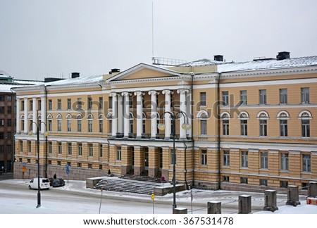 The Main Building of the University of Helsinki, in Helsinki, Finland - stock photo