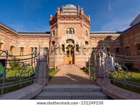 The main facade of Arpad Spa - thermal bath in Szekesfehervar, Hungary